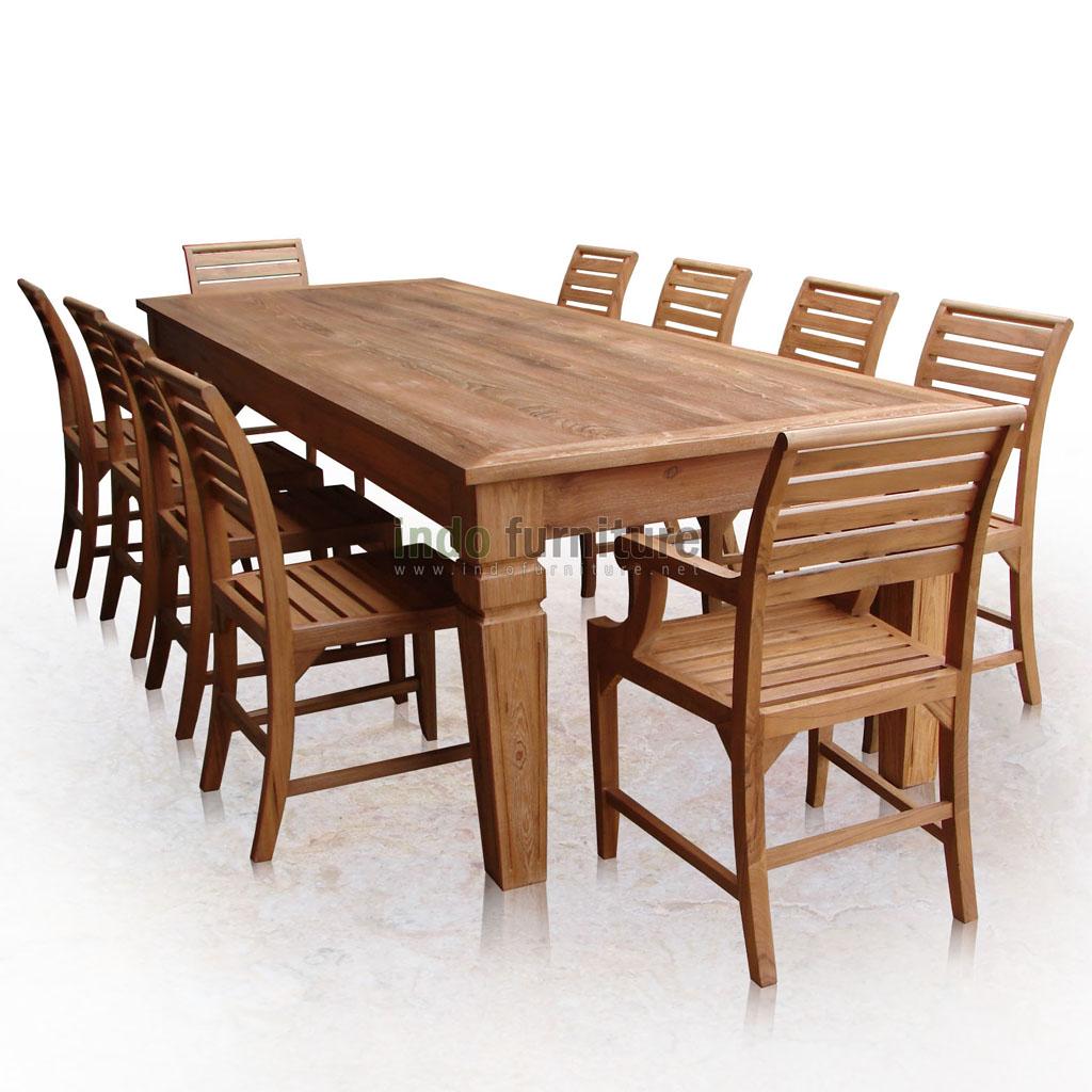Desain Meja Makan Kayu  Inspirasi Desain Rumah
