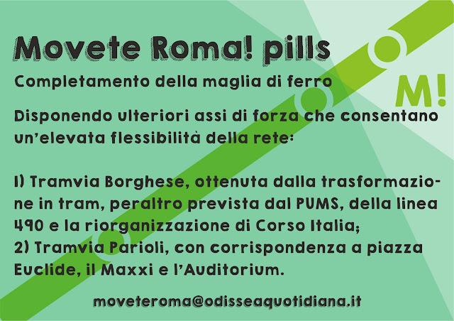 Movète Roma Pillola, numero 22:  il completamento della maglia centrale