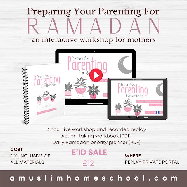 Ramadan parenting workshop sale