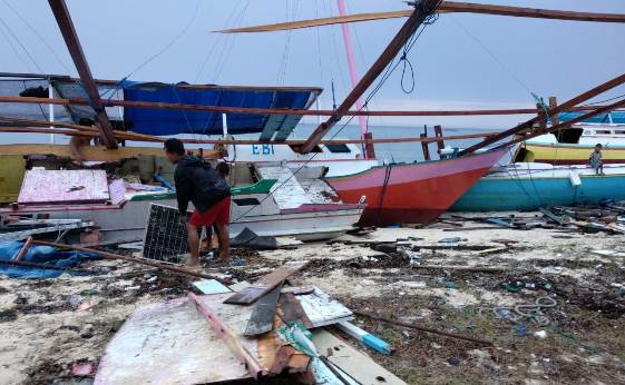 Breaking News : Pasca Gelombang Pasang, Begini Kondisi Warga,Pulau Jinato Pagi Ini