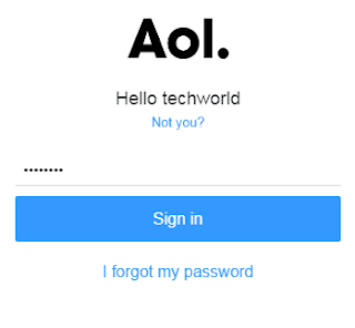 AOL mail Login with password
