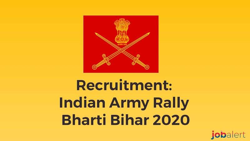 Recruitment: Indian Army  Rally Bharti Bihar 2020