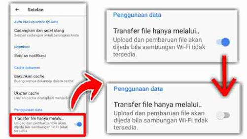Tidak bisa upload file ke google drive