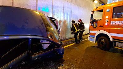 fotos accidente tráfico Julio Luengo Las Palmas, 8 enero
