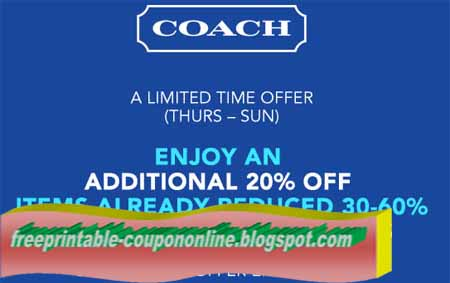 Coach printable coupons july 2018