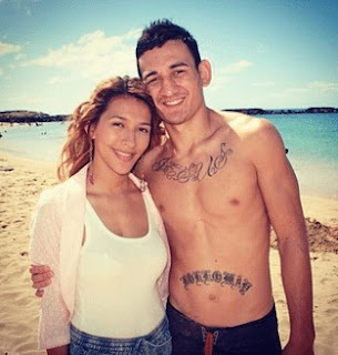 Picture of Kaimana Paaluhi with her ex-husband Max Holloway