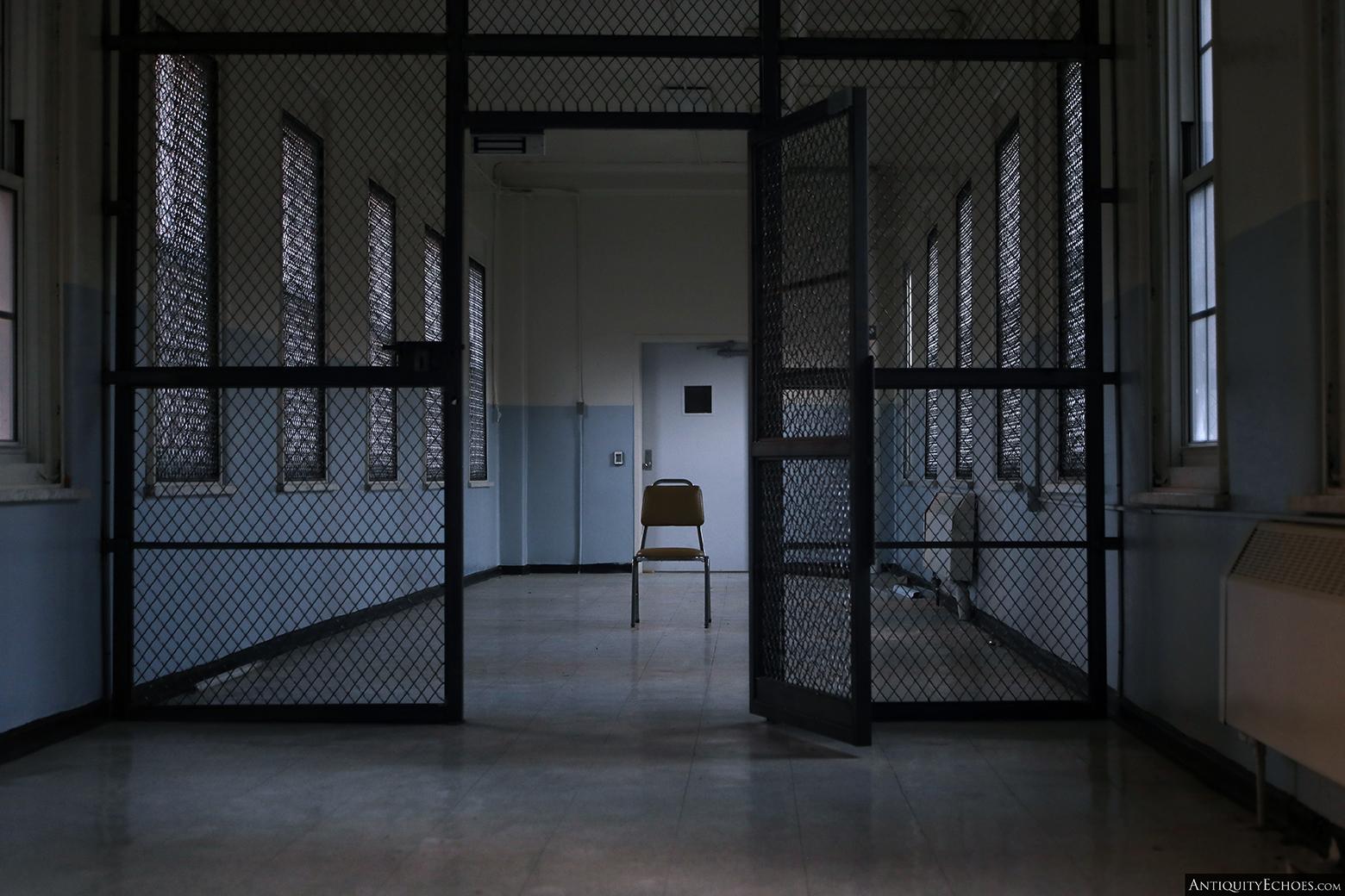 Allentown State Hospital - Caged Hallway