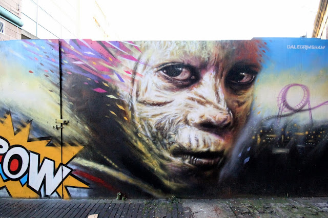 """""""Kapow"""" New Street Art Mural By Dale Grimshaw on the streets of London, UK. 1"""