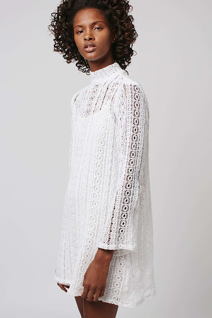 absence of colour white lace dress,