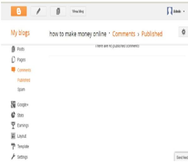 Blog frontend design