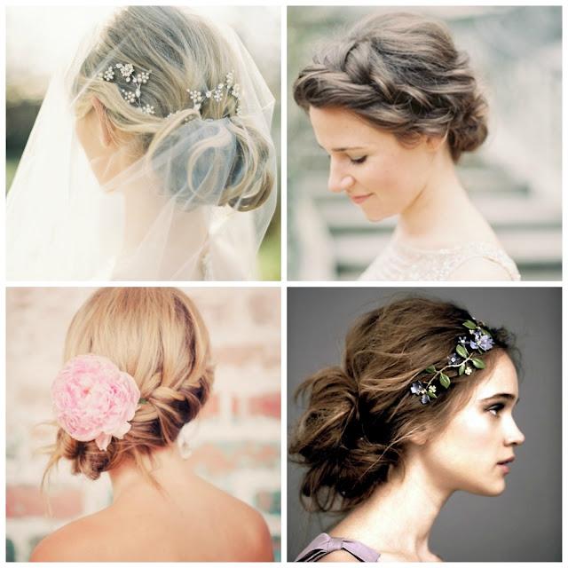 Peinados recogidos para novias bodas y novios con estilo - Peinados de novia con flequillo ...