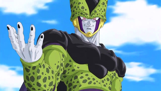 Captura de la serie de dibujos Dragon Ball Z (Cell)
