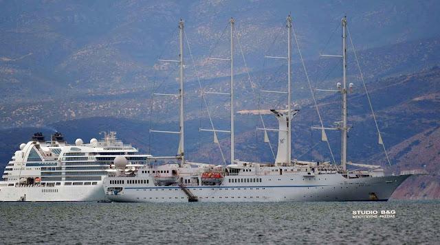 Συνωστισμός κρουαζιερόπλοιων στο Ναύπλιο