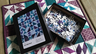 mini quilt and matching photo puzzle
