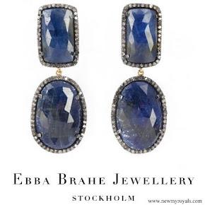 Crown Princess Victoria wore Ebba Brahe Duchess Earrings