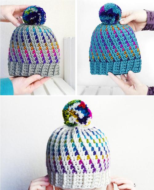 Crochet Swirl Beanie - Free Pattern