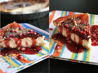 Làm cheesecake lựu đỏ rực rỡ đón hè