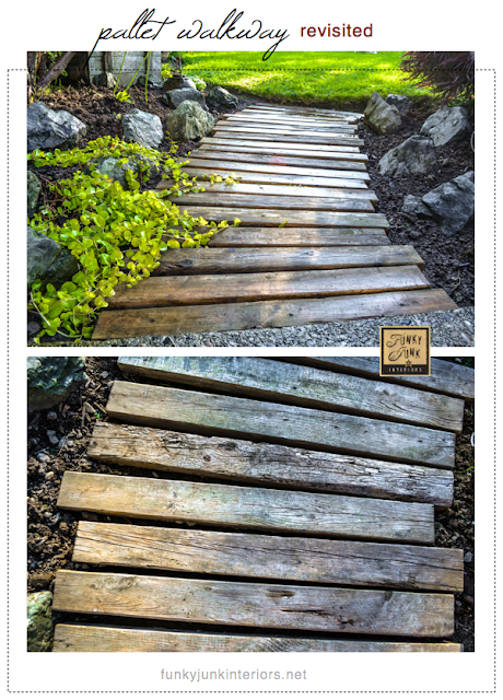 #2 - Create a pallet wood walkway for the garden - via Funky Junk Interiors (click here for the rest of the top 2012 lineup)