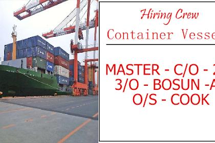 AB, Cook, O/S, Bosun, 3/O, 2/O, C/O, Master For Container Vessel