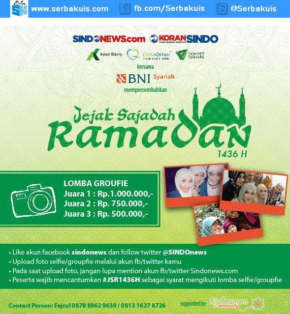 Kontes Groufie Jejak Sajadah Ramadan 1436 H Berhadiah Jutaan Rupiah
