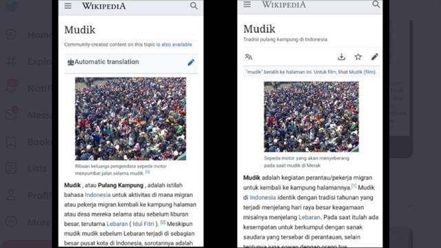 Duh! Usai Acara Mata Najwa, Definisi Mudik di Wikipedia Sempat Diubah