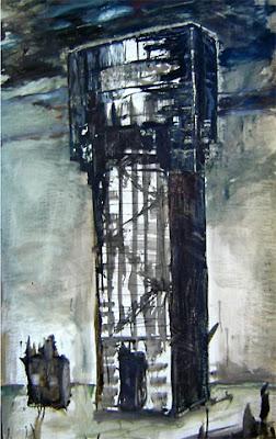 PEACE-ART project:  Willem BEHR, 'Watchtower', relic from the 2nd world war at Eede, Zeeuws-vlaanderen, the Netherlands