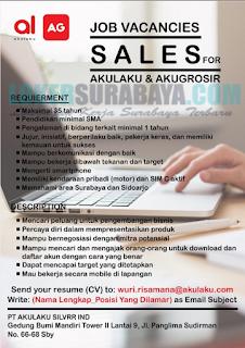 Lowongan Kerja di PT. Akulaku Silvrr Ind Surabaya Terbaru Mei 2019