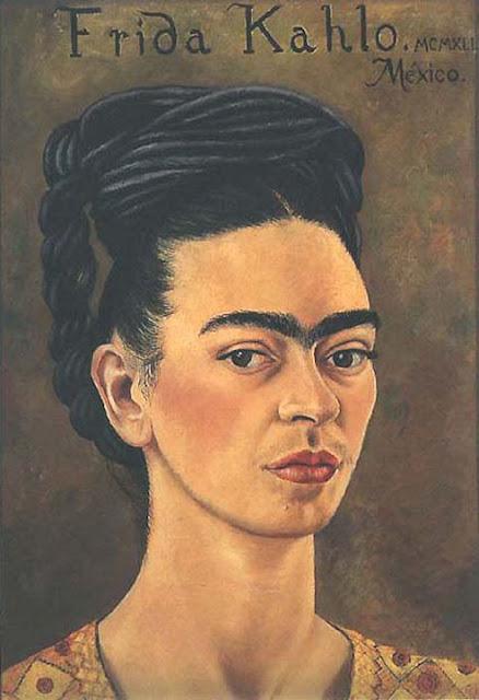 Фрида Кало - Автопортрет в красном и золотом. 1941