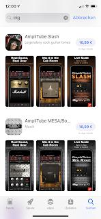 AmpliTube und Plugins im Apple Store