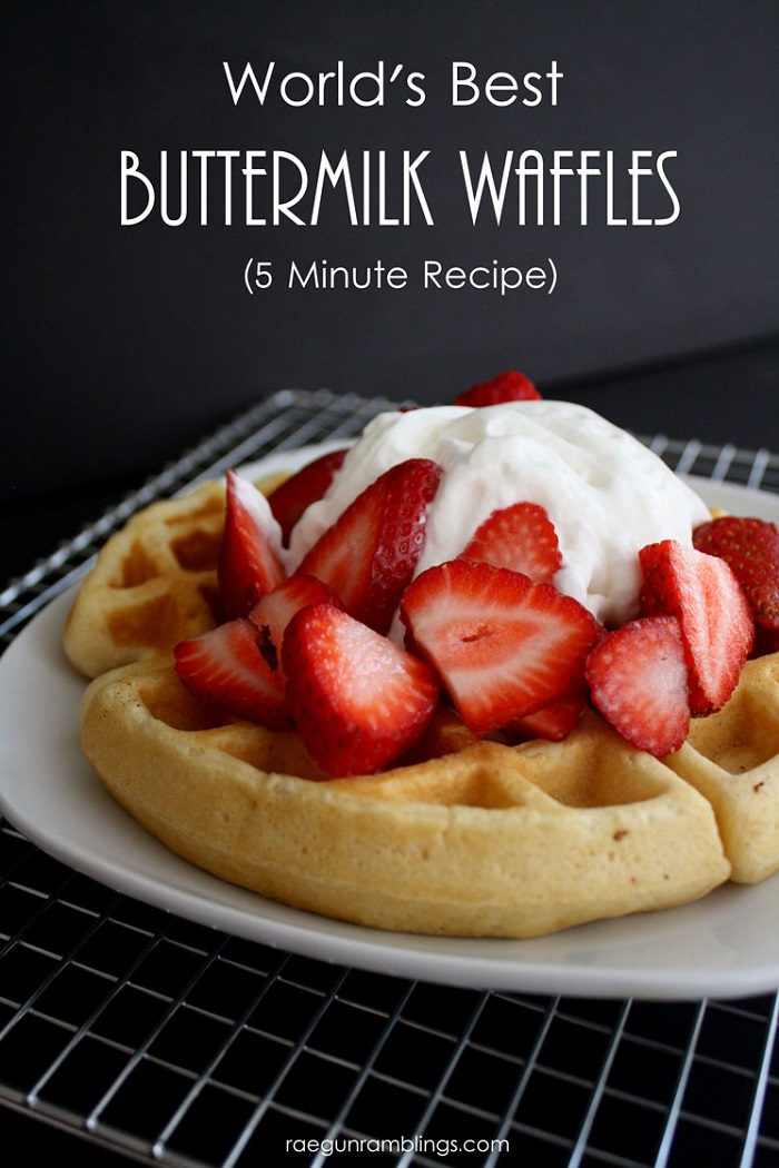 The Best Quick Buttermilk Waffles
