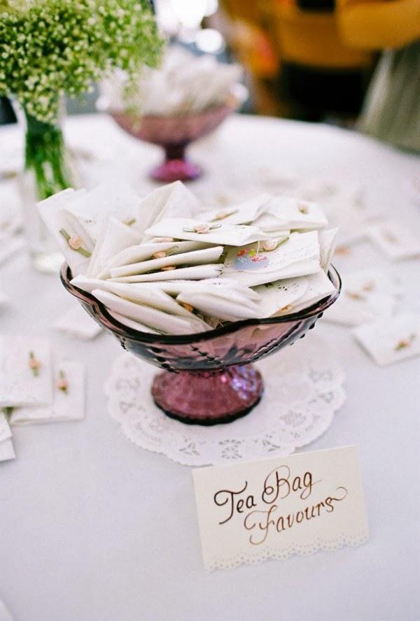 Memorable Wedding Tasteful Details  Tea Wedding Favors