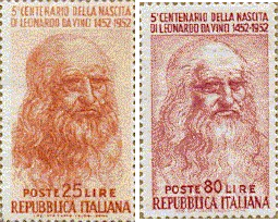 Resultado de imagem para selo de Leonardo da Vinci,