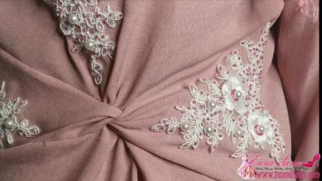 Tutorial jahit manik dan patch lace