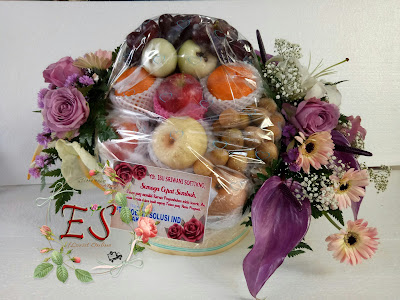 parcel bunga buah mix purple