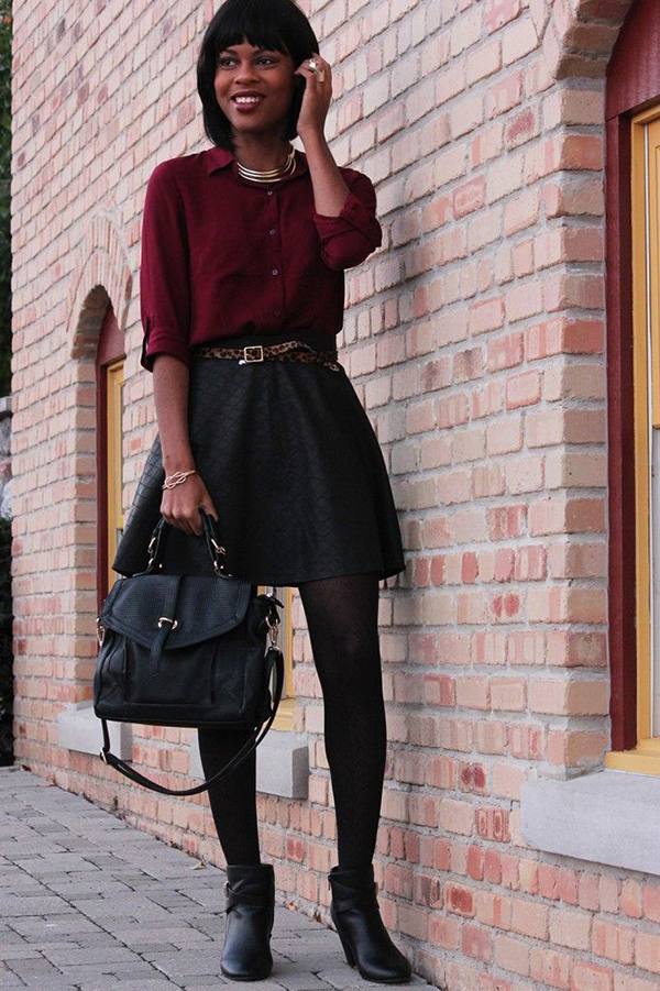 4250d0966b9 Wear a skirt and sweater with hi-top sneakers for a more casual vibe.