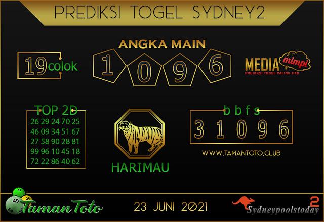 Prediksi Togel SYDNEY 2 TAMAN TOTO 23 JUNI 2021