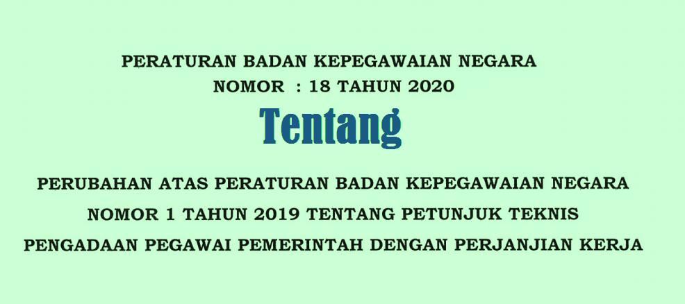 Perubahan Juknis Pengadaan PPPK Tahun 2021