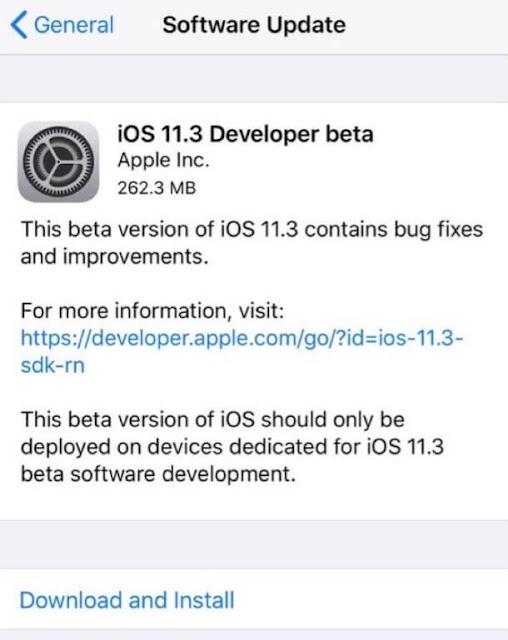 ابل تطلق iOS 11.3 بيتا 6