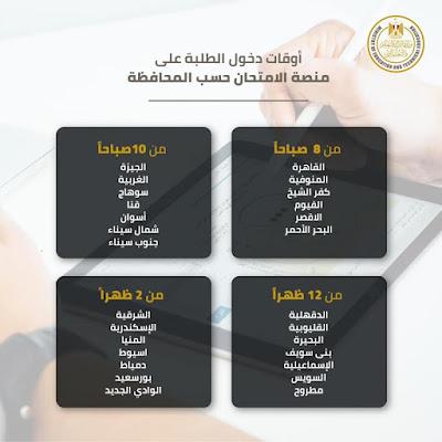 وزير التعليم:أوقات دخول الطلاب على منصة الامتحان حسب المحافظة | الصف الاول الثانوى