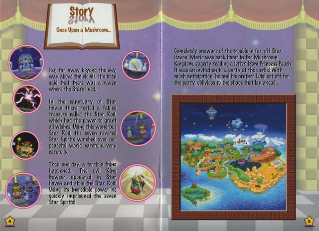 Paper Mario Story instruction book manual