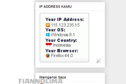 Cara Memasang Widget IP Address di Blog