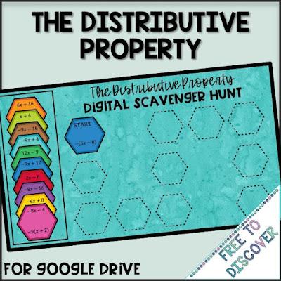 the distributive property digital scavenger hunt