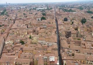 Vistas desde lo alto de la Torre Asinelli.