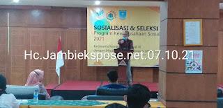 Rektor Universitas Muhammadiyah Jambi Secara Resmi  Membuka Sosialisasi Dan Seleksi Mentor ProKus