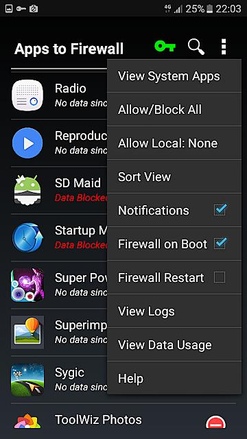 Tutorial Kronos firewall app apk