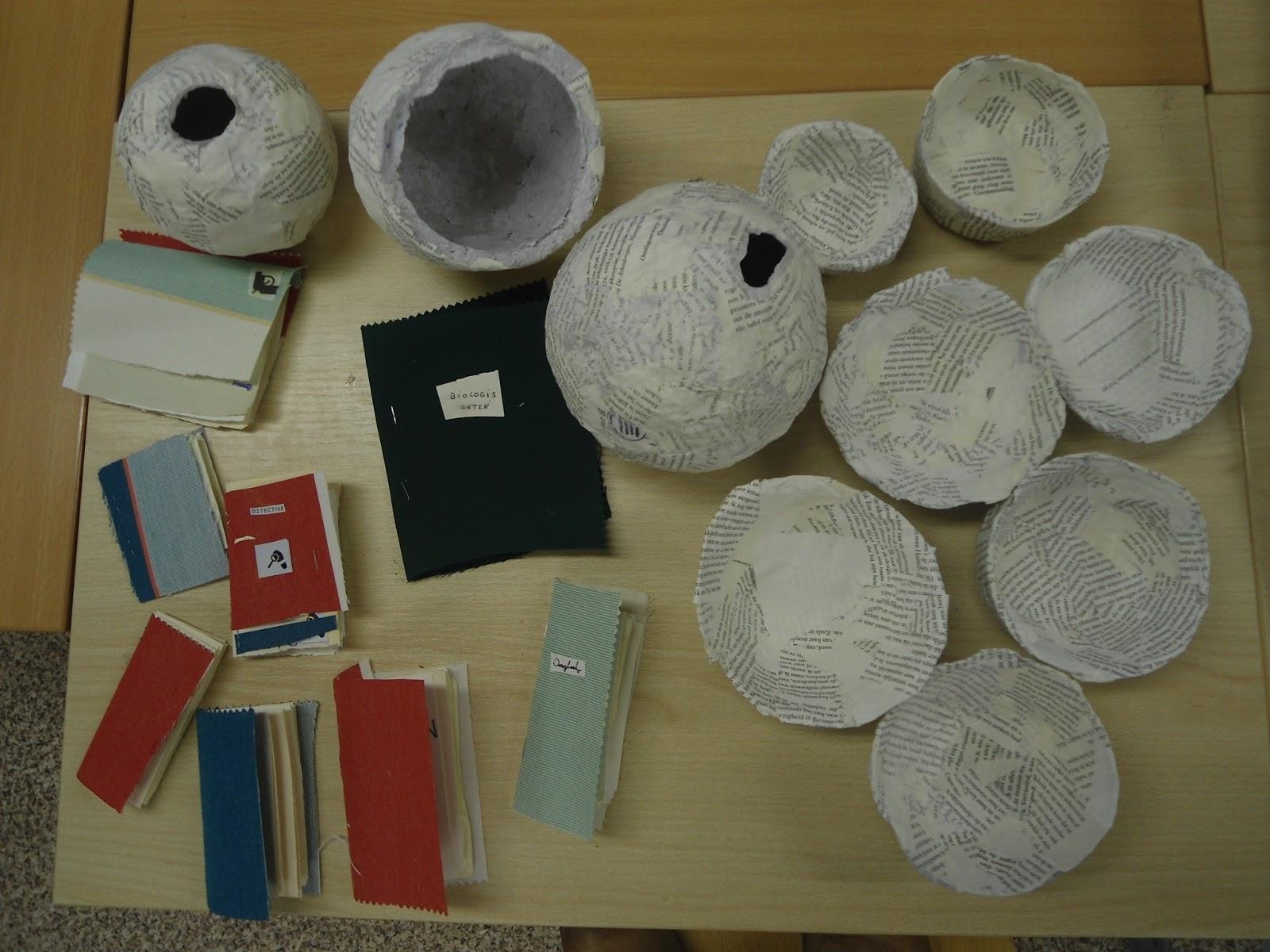 Genoeg Octopus 3B: De nieuwe bieb: knutselen met oude boeken &RK83