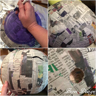 how-to-cut-out-carve-paper-mache-pumpkin