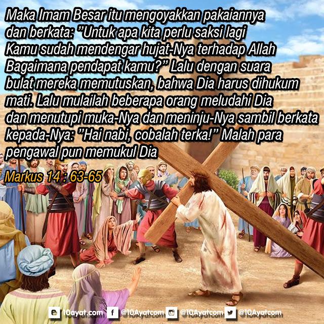 Markus 14 : 63-65