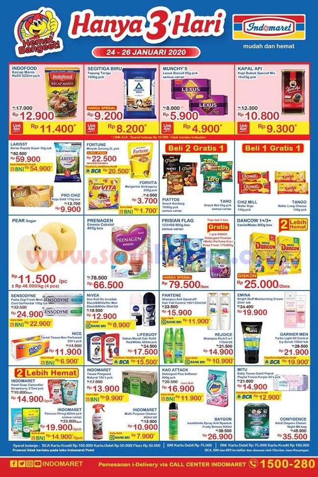Katalog Promo JSM Indomaret Periode 24 - 26 Januari 2020