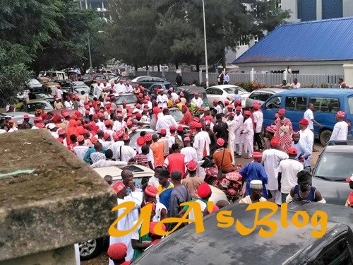 2019: Massive Supporters Take Over Abuja As Kwankwaso Declares For President Today (Photos)